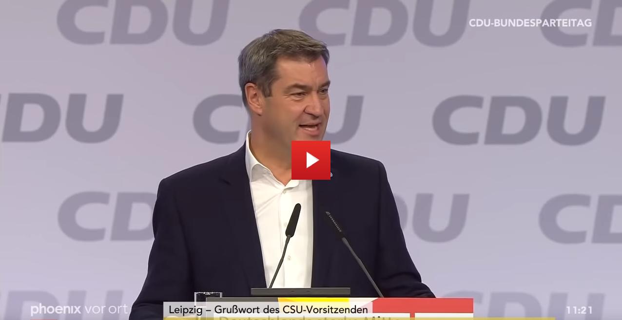 Markus Söder am CDU Parteitag vom 23.11.2019