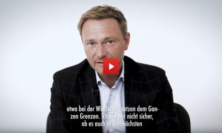 """Christian Lindner: """"Unser Vorschlag ist, in eine Wasserstoff Wirtschaft einzutreten!"""""""